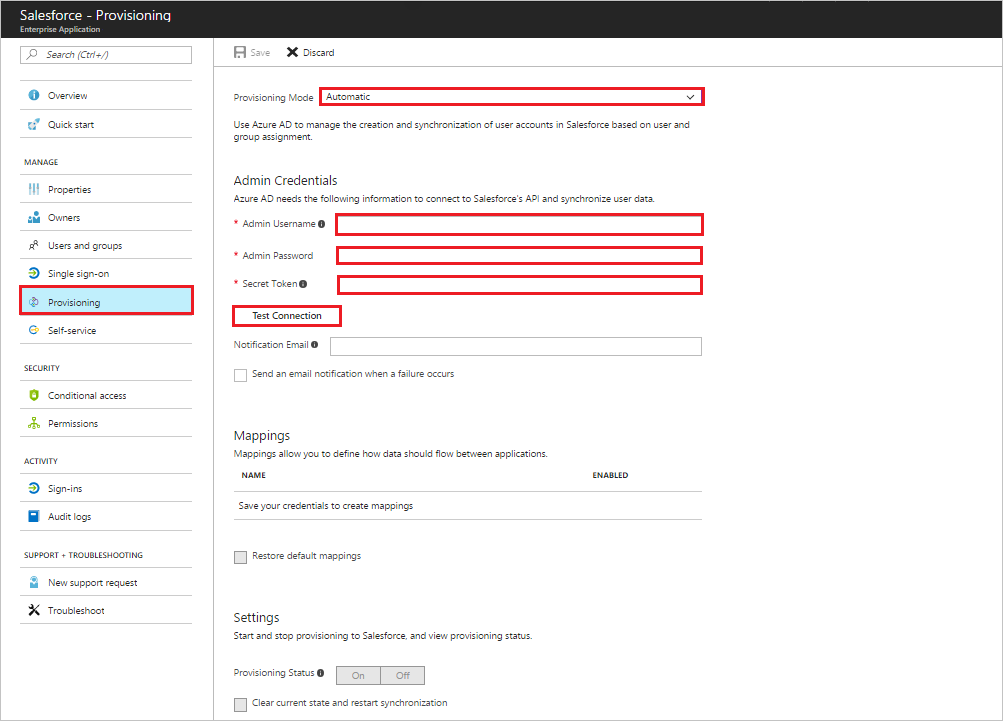 Process of Configuring automatic user account provisioning